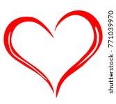 heart. plaster design  vector. | Shutterstock .eps vector #771039970