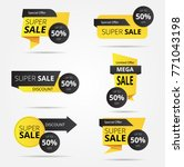 sale banner collection ... | Shutterstock .eps vector #771043198