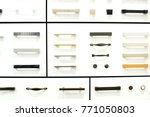 samples of modern handles for... | Shutterstock . vector #771050803