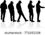 black silhouette of a man. | Shutterstock .eps vector #771052138