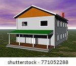dwelling house 3d rendering | Shutterstock . vector #771052288