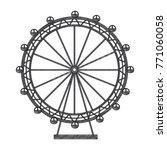 ferris wheel recreation... | Shutterstock .eps vector #771060058