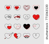 different kinds of hearts | Shutterstock .eps vector #771063130