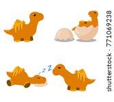 cute cartoon dinosaur | Shutterstock .eps vector #771069238