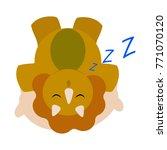 cute cartoon dinosaur | Shutterstock .eps vector #771070120