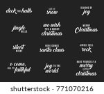 holiday christmas vector text...   Shutterstock .eps vector #771070216