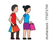 woman shopping icon image  | Shutterstock .eps vector #771071743
