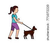 dog pet icon image  | Shutterstock .eps vector #771072220