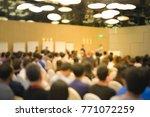 blur image of business... | Shutterstock . vector #771072259
