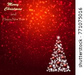 christmas background with... | Shutterstock .eps vector #771075016