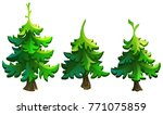 set of firs for decoration.... | Shutterstock .eps vector #771075859
