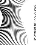 white black color. linear... | Shutterstock .eps vector #771091408