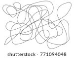 smooth colorful line mix as a... | Shutterstock .eps vector #771094048