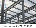construction site steel frame... | Shutterstock . vector #771094399