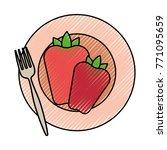 healthy vegetables design | Shutterstock .eps vector #771095659