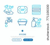 hygiene thin line icons set ... | Shutterstock .eps vector #771100330
