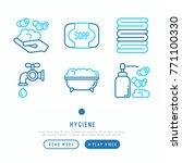 hygiene thin line icons set ... | Shutterstock .eps vector #771100330