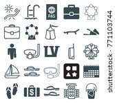set of 25 vacation filled and... | Shutterstock .eps vector #771103744
