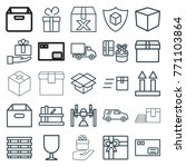 set of 25 parcel outline icons... | Shutterstock .eps vector #771103864