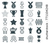 set of 25 prize filled and... | Shutterstock .eps vector #771104248