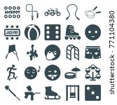 set of 25 fun filled icons such