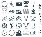 set of 25 championship filled... | Shutterstock .eps vector #771104404