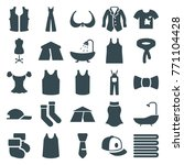 set of 25 textile filled icons... | Shutterstock .eps vector #771104428