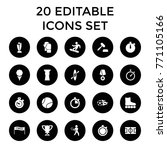 competition icons. set of 20... | Shutterstock .eps vector #771105166