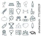 set of 25 celebration outline... | Shutterstock .eps vector #771105229