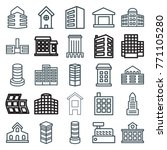 set of 25 apartment outline... | Shutterstock .eps vector #771105280