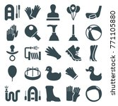 set of 25 rubber filled icons... | Shutterstock .eps vector #771105880