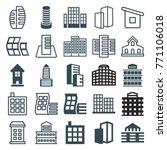 set of 25 skyscraper filled and ... | Shutterstock .eps vector #771106018