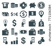 set of 25 dollar filled icons... | Shutterstock .eps vector #771106384