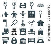 set of 25 small filled icons...   Shutterstock .eps vector #771106450