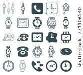 set of 25 dial filled and... | Shutterstock .eps vector #771106540
