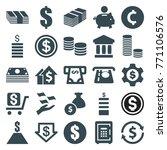 set of 25 investment filled...   Shutterstock .eps vector #771106576