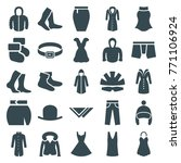 set of 25 wear filled icons... | Shutterstock .eps vector #771106924