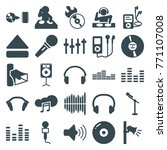 set of 25 audio filled icons... | Shutterstock .eps vector #771107008