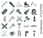 set of 25 blade filled and... | Shutterstock .eps vector #771107020