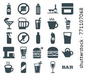 set of 25 drink filled icons... | Shutterstock .eps vector #771107068