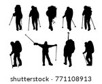 climbers on the mountains.... | Shutterstock .eps vector #771108913