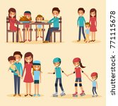 set of family differents... | Shutterstock .eps vector #771115678