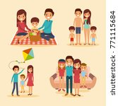 set of family differents... | Shutterstock .eps vector #771115684