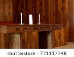 Unity Candle On Church Altar
