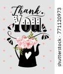 thank you card | Shutterstock .eps vector #771120973
