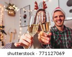 merry christmas and happy new... | Shutterstock . vector #771127069