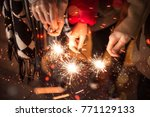 friends celebrating with... | Shutterstock . vector #771129133