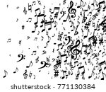 black musical notes flying... | Shutterstock .eps vector #771130384