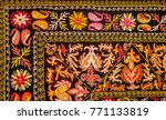 Colorful Kazakh Embroidery Wit...