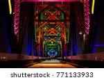 big four bridge   louisville ... | Shutterstock . vector #771133933
